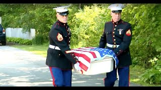 Two Marines Carried The Casket Of Hero K9 To Bring Him Back Home