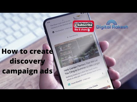 How to create discovery campaign ads