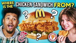 ULTIMATE Chicken Sandwich Taste Test! (Chick-Fil-A, McDonald's, Popeyes & More!)