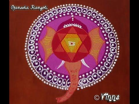 rangoli design for vinayagar chathurthi by vinns