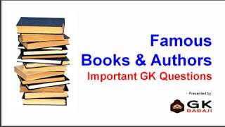 Famous Books and Authors GK Quiz | English