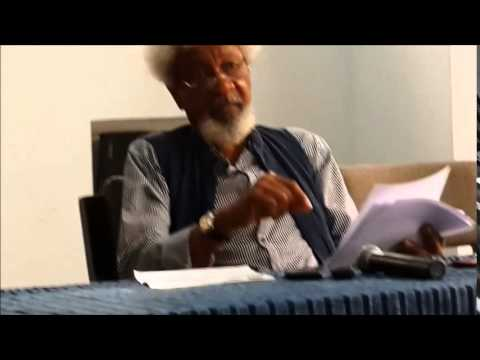 Wole Soyinka's Press Conference on The State Of The Nation Nigeria Part 1 .