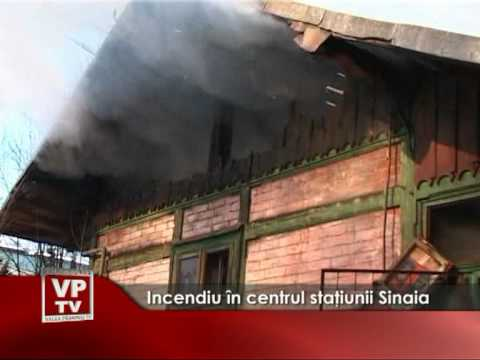 Incendiu în centrul staţiunii Sinaia