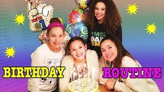 Birthday Routine! Sierras 14th Birthday Surprise! (Haschak Sisters)