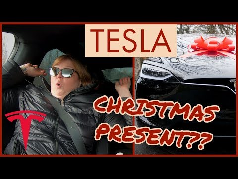 Surprising My Mom With A TESLA Model X 100D For Christmas!!