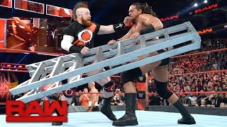 Cesaro & Sheamus spark a ladder melee: Raw, March 27, 2017