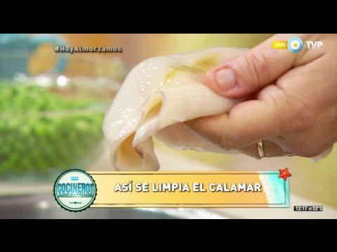 Limpieza de calamares