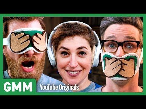 3 Monkeys Blindfold Challenge ft. Mayim Bialik