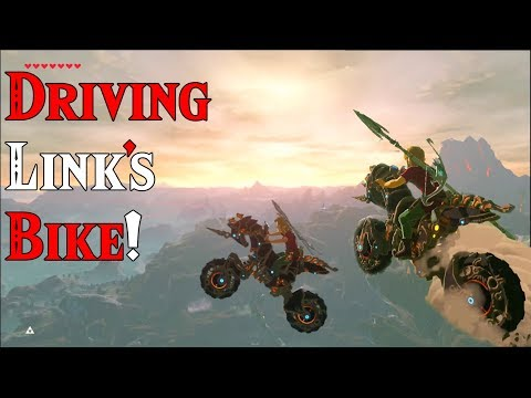 DRIVING Link's Motorcycle: Master Cycle Zero in Zelda Breath of the Wild DLC