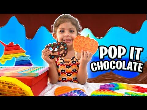 FIZEMOS POP IT DE CHOCOLATE  | Funny kids video