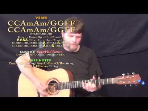 Photograph (Ed Sheeran) Guitar Lesson Chord Chart - Capo 4th - C Am F G