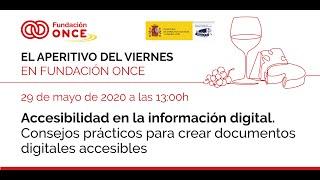 Aperitivo 8 – «Accesibilidad en la información digital. Consejos prácticos para crear documentos digitales accesibles»