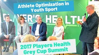 2017 Players Health Summit - Youth Sport Optimization Panel