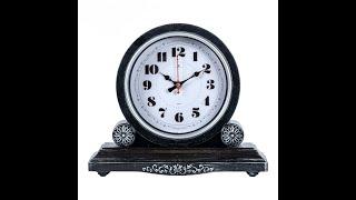 Видео обзор каминных часов Рубин, Классика корпус черный с серебром