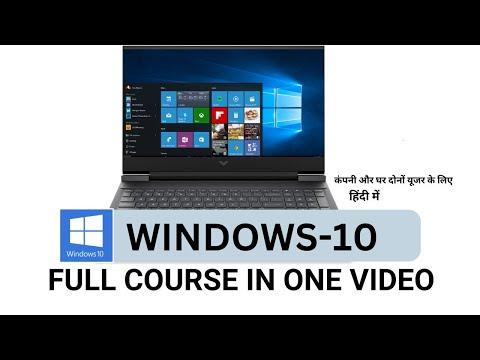 Windows 10 full course in One Video [HINDI] || Windows 10 tutorial beginner to Advanced |Microsoft