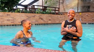 TEACHING MY WIFE HOW TO SWIM *SHE FREAKS OUT*   RAEDEEVEMBER DAY 9
