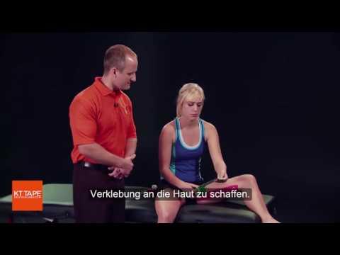 Gymnastik mit Osteoarthritis des Knies und der Hüfte