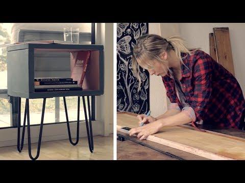 Design Nachttisch | DIY | Tisch mit Haarnadelbeinen selber machen