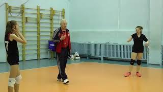 Волейбол. Обучение. Девушки. Упражнение на тренировку приема