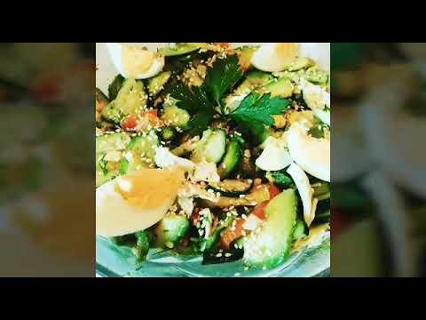 Чудесный Салатик. Как приготовить летний, легкий салат. Мегавкусный салатик. Хоть каждый день ешь!