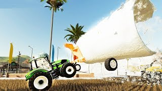 I Destroyed Farming with Excessively Large Equipment - Farming Simulator 19