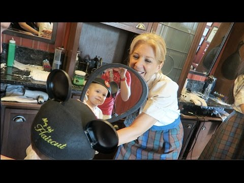 TWINS FIRST HAIRCUT AT HARMONY BARBER SHOP IN DISNEY WORLD | February 2017