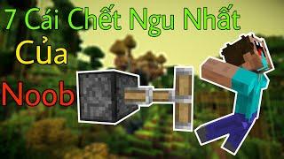 7 Cái Chết Ngu Ngốc Nhất Của Noob - Minecraft PE