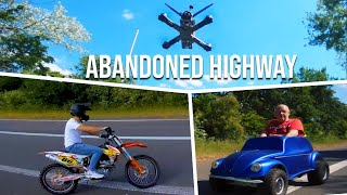 ABANDONED HIGHWAY ! FPV Freestyle