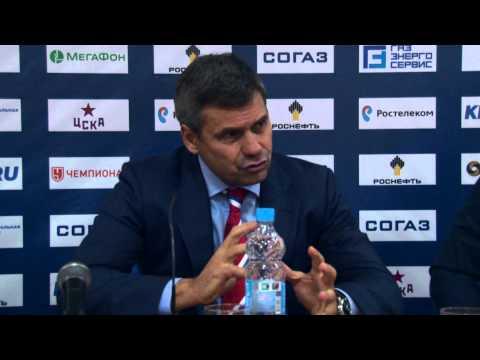 """ЦСКА 4-1 """"Автомобилист"""": пресс-конференция (13.09.2015)"""