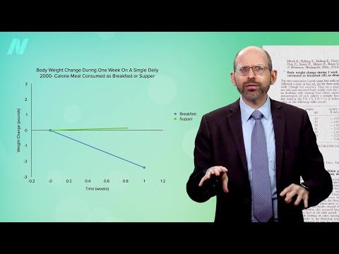 """ד""""ר מייקל גרגר מסביר מתי הכי כדאי לאכול כדי לרדת במשקל"""
