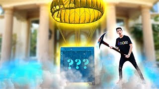Unboxing a FORTNITE Supply Drop in REAL LIFE!! **what's inside?**