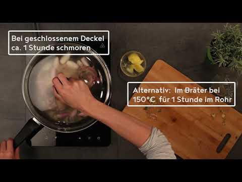 #amakocht Kräuter Lammbraten mit Gemüse und Basilikumknödel