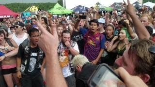 Anti-Flag - Brandenburg Gate - live - Warped Tour - Charlotte, NC - 7-6-17