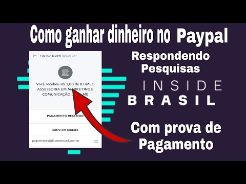 INSIDE BRASIL: Ganhe dinheiro no paypal respondendo pesquisas com prova de pagamento.