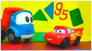 🔵 PAINT SHOP! 🔴 - Leo Toy Truck & Lightning McQueen - Cars Cartoons Videos For Kids