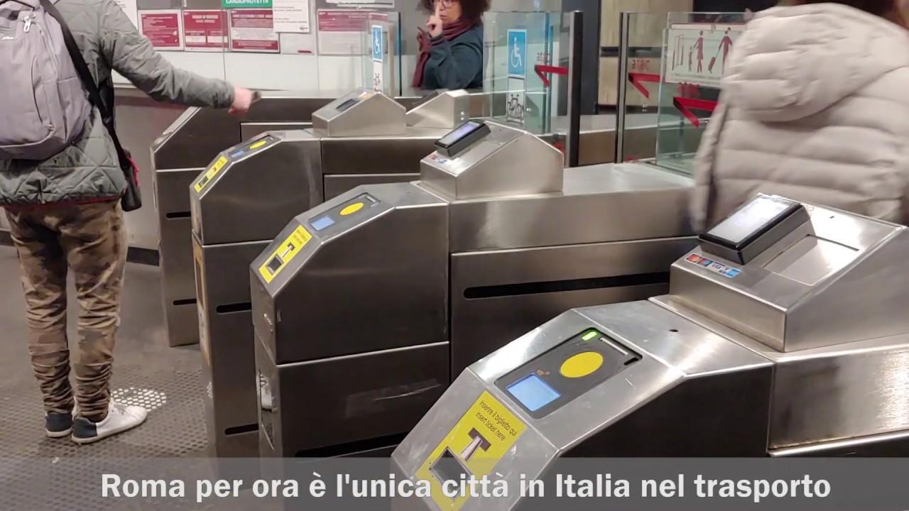 """Il pagamento """"Tap&Go"""" nella Metro di Roma"""