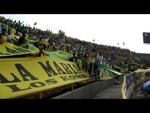"""""""Los Locos Del Moron 2 ( R.A.V.N )"""" Barra: Rebelión Auriverde Norte • Club: Real Cartagena"""