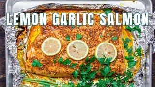 Lemon Garlic Salmon With Mediterranean Flavors | The Mediterranean Dish