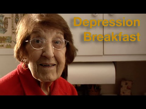 A 93-year-old makes the kind of breakfast she had during the Depression