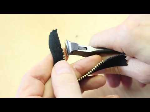 Anleitung: M0 4 mm Metall-Reißverschluss Zähne entfernen & Anfangsteile montieren
