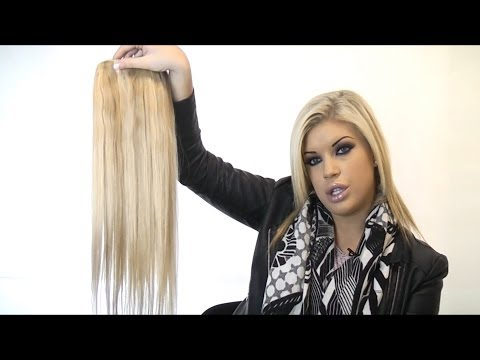 Clip in human hair extensions by cliphair quad weft extensions solutioingenieria Image collections