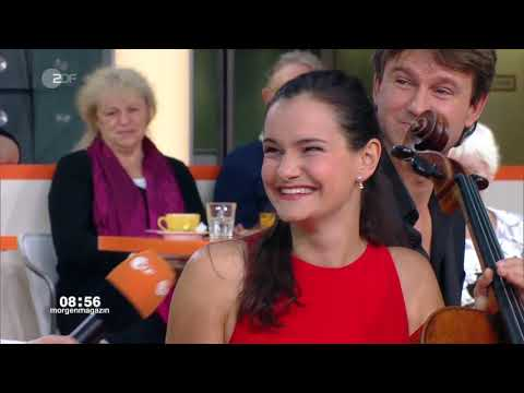Raphaela Gromes spielt Rossini im ZDF-Morgenmagazin vom 19.11.2018