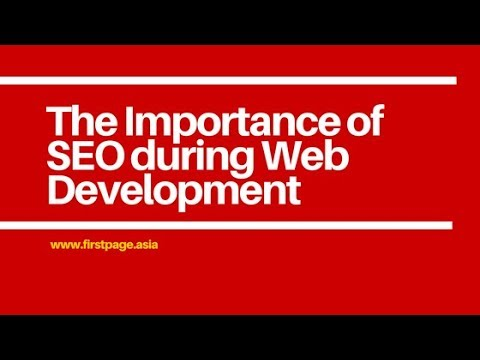 The Importance of SEO during Web Development