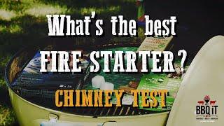 CHARCOAL STARTER TEST - 4 WAY!!  BIG GREEN EGG v WEBER v TRUE CUE v PAPER  | BBQiT