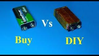 How to make 9v battery from PCB , DIY 9V battery , Amazing idea 2019