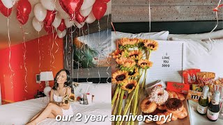 SURPRISING MY GIRLFRIEND FOR OUR 2 YEAR ANNIVERSARY (vlog)