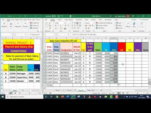 EXCEL PAYROLL PART 5 With Salary Slip