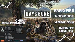 Days Gone Cheat Menu Trainer God Mode Ammo 999 Infinite Health PC