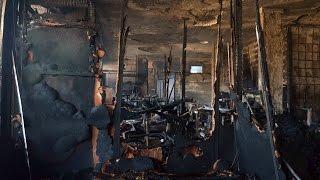 preview picture of video 'مصر العربية | حريق هائل يلتهم أحد المصانع بالمطرية'