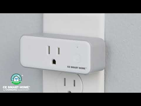 Video for CE Smart Home White Plug-In Smart Outlet